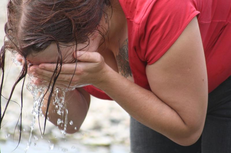 Sami in a river